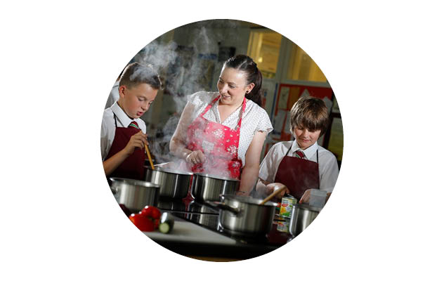 Calthorpe Park School food lesson