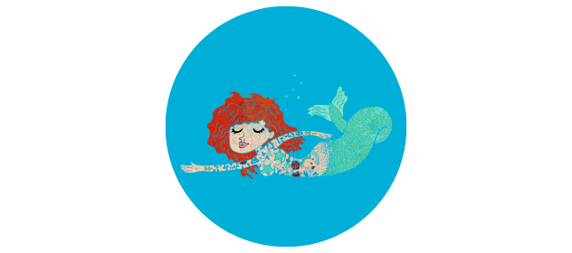 Illustration of a mermaid