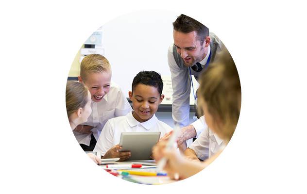 Primary school computing lesson