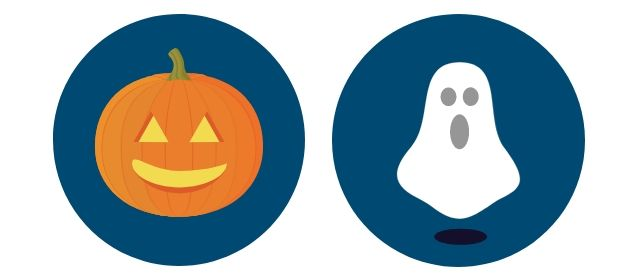Pumpkin and ghost Halloween graphics