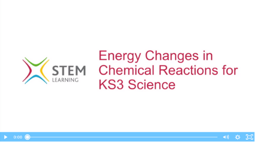 Remote lesson - energy changes in chemical reactions - ks3