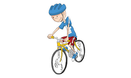 Boy cycling