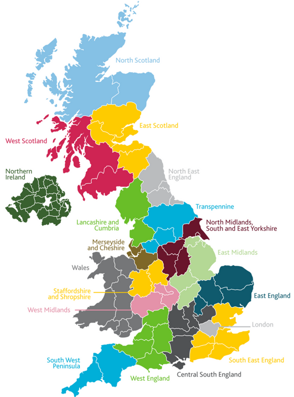 STEM Ambassador Hub regions