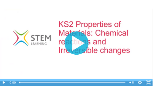 Remote lesson - materials - reversible and irreversible reactions - key stage 2