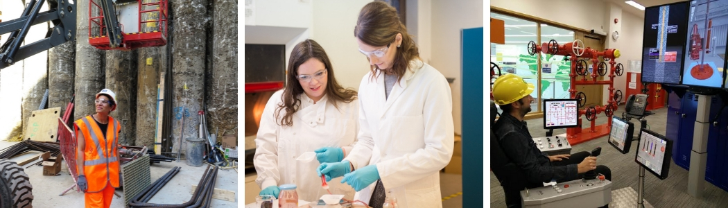 Photos of teachers and careers leaders on STEM Insight placements