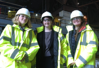 Female students taking part in a placement