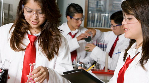 Secondary school science lesson