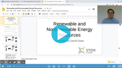 Remote lesson - renewable and non-renewable energy