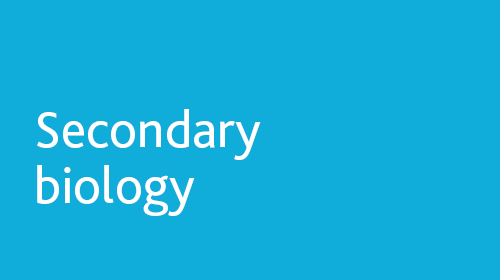 Secondary biology resources for home learning