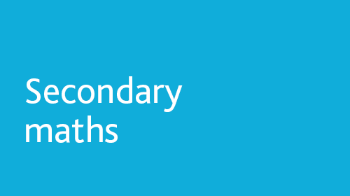 Secondary maths resources for home learning