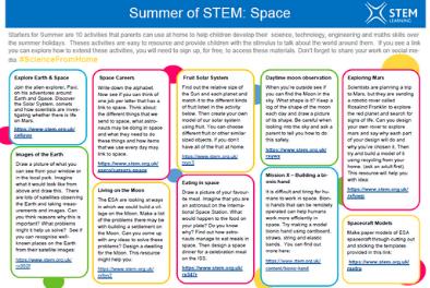 Summer of STEM Week 2 activities