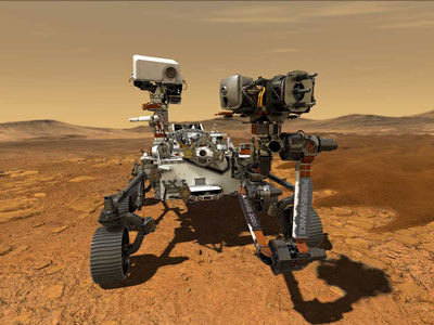 3D computer visualisation of the NASA Perseverance Rover on Mars