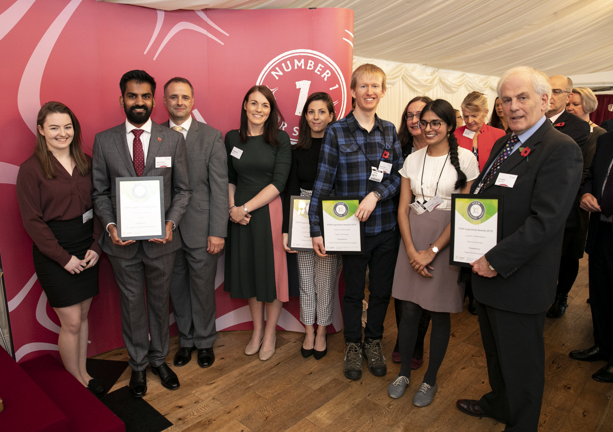 The winners and highly commended organisations for the Innovation in STEM Inspiration award