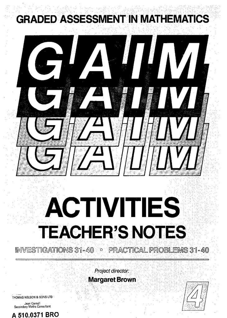 GAIM Activities: Investigations   STEM