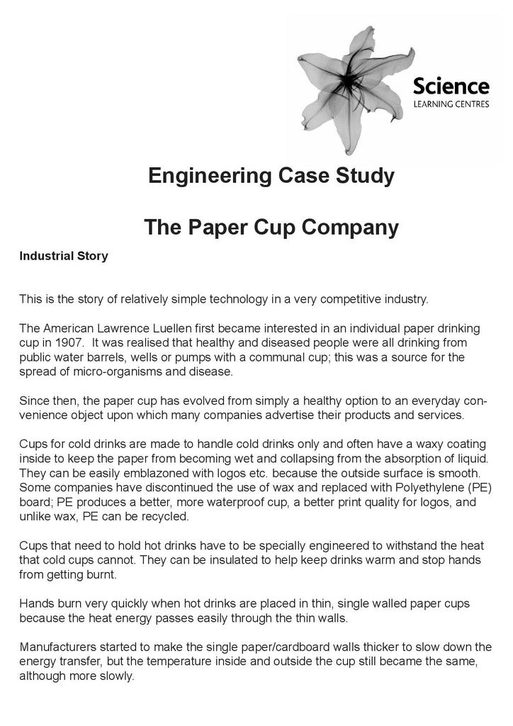 The Paper Cup Company | STEM