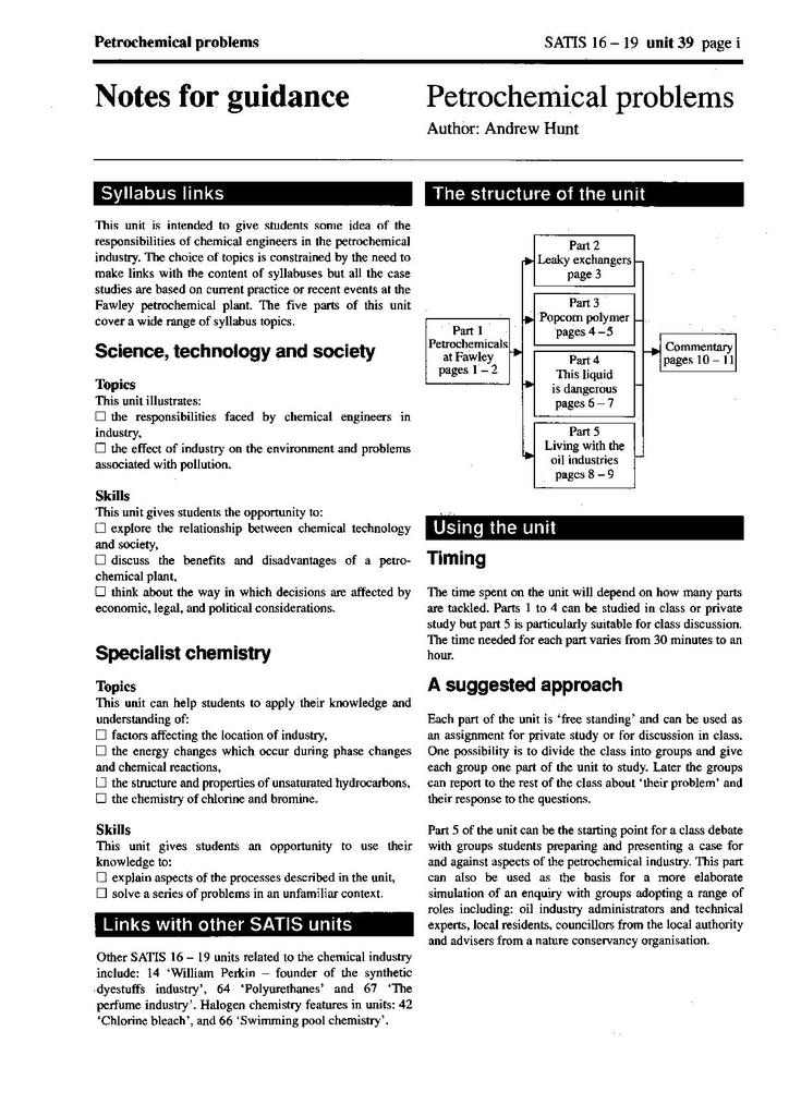 SATIS 16-19: Units 26-50   STEM