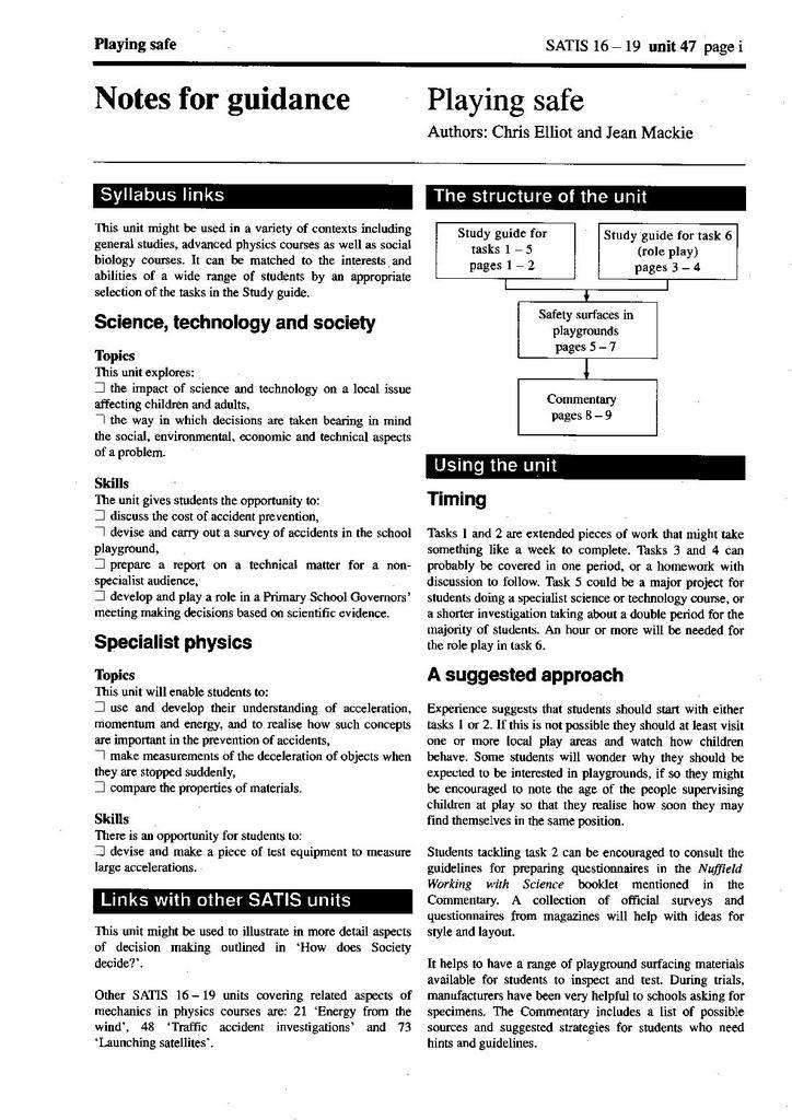 SATIS 16-19: Units 26-50 | STEM