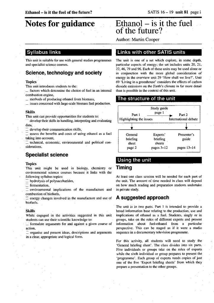 SATIS 16-19: Units 76-100 | STEM