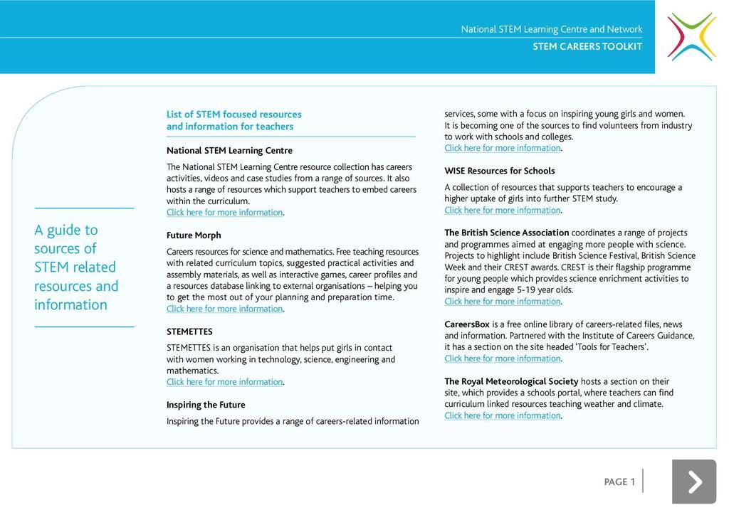 STEM careers toolkit: secondary STEM careers toolkit | STEM