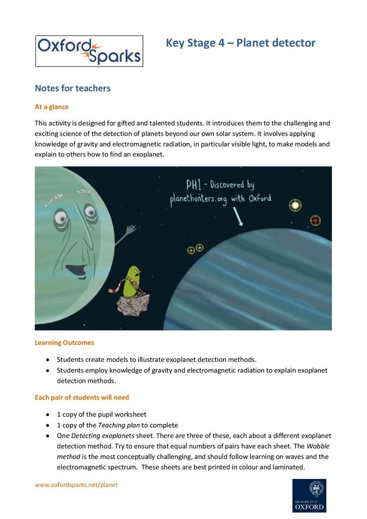 Planet detector | STEM