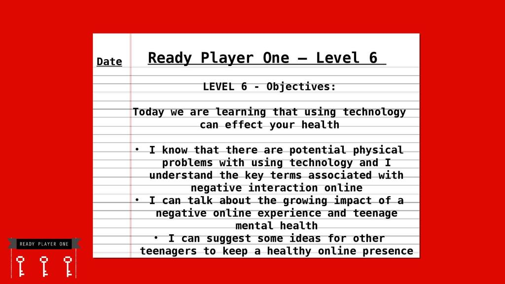 Ready Player One - Introducing EMSL aspects of the curriculum | STEM