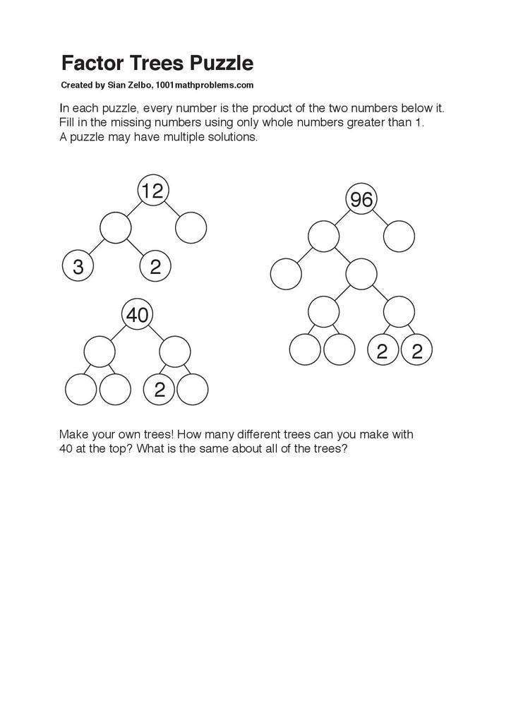 Factor trees puzzle | STEM