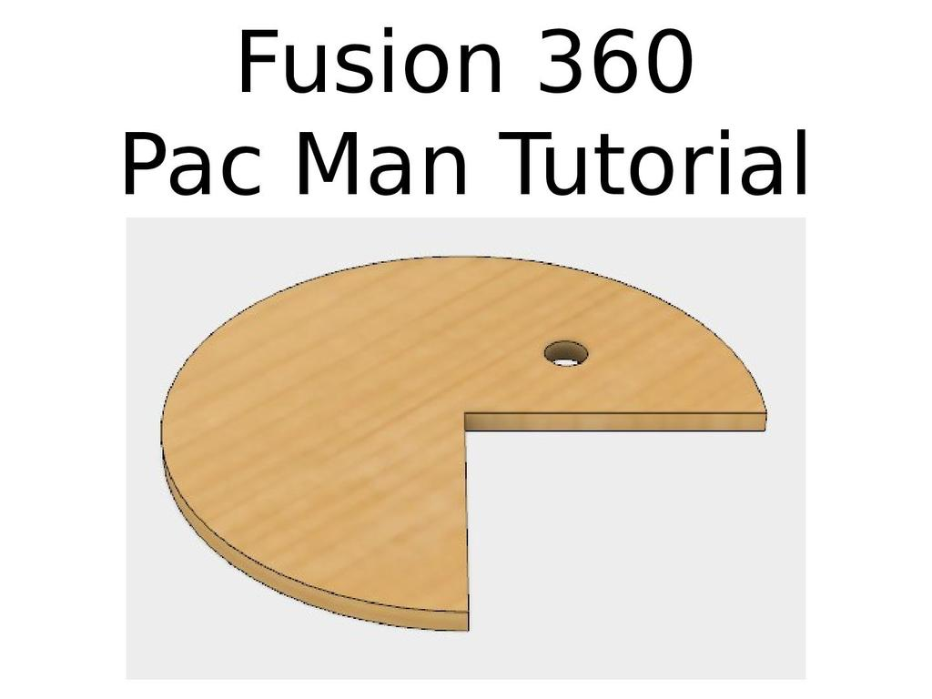 Fusion 360 - Pac Man tutorial | STEM