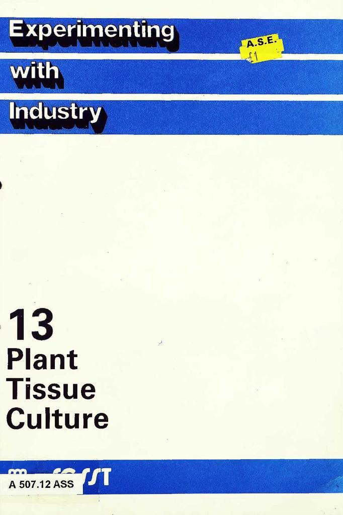 13  Plant Tissue Culture | STEM