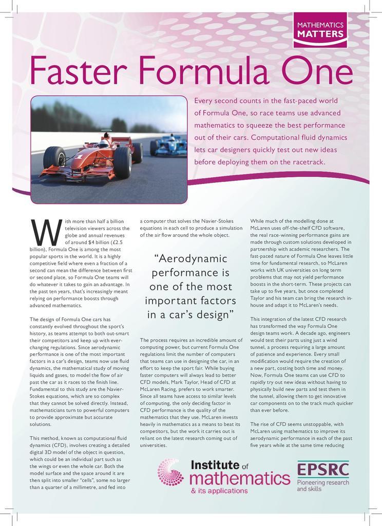 Faster Formula One | STEM
