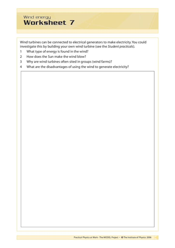 Harnessing Energy: Activity Sheets   STEM