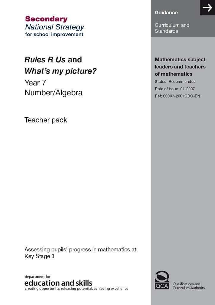 Assessing Pupils Progress Assessment Packages: Teachers' Pack | STEM