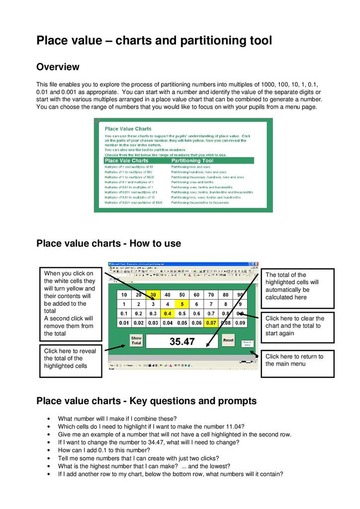 Place Value Rounding Estimation Fractions Percentages And