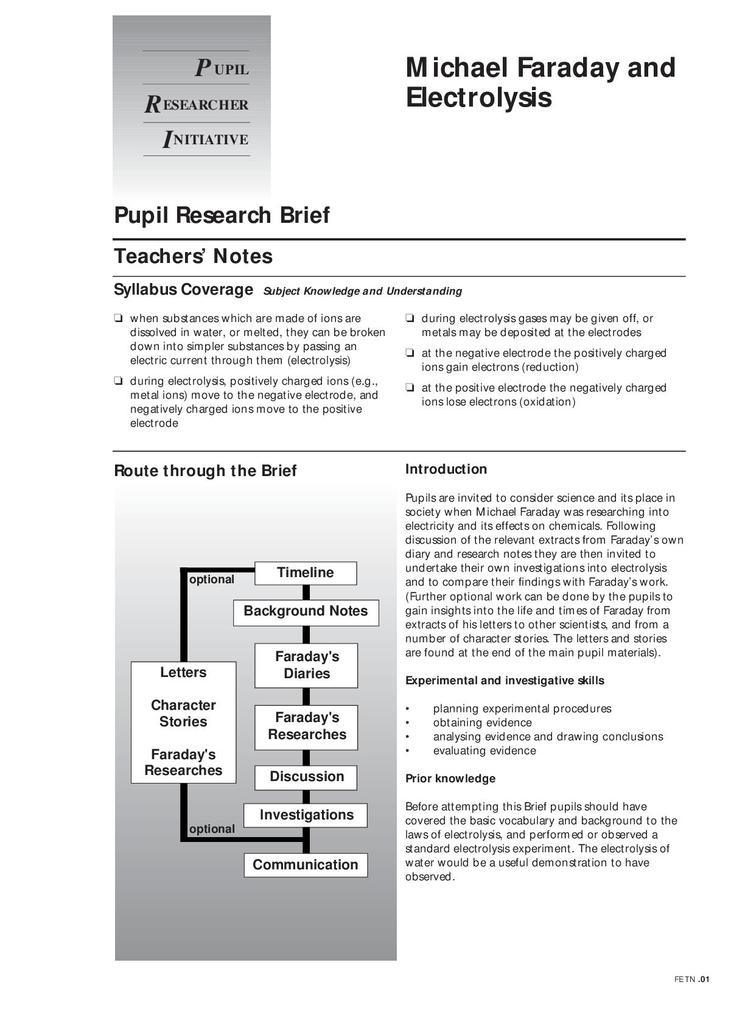 Pupil Research Briefs – Chemistry Briefs | STEM