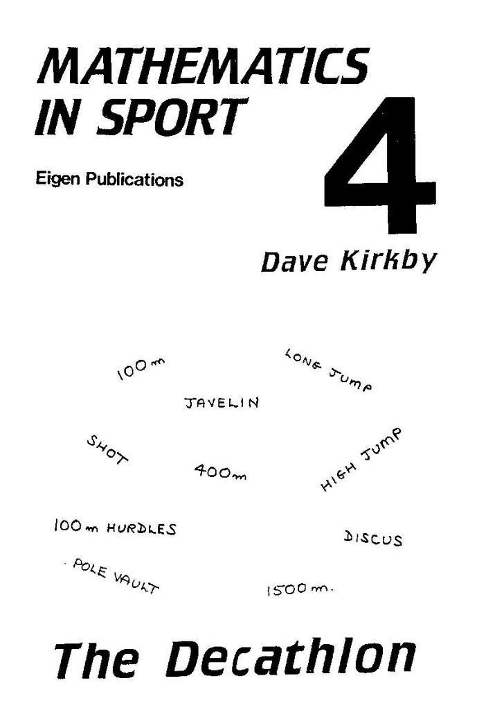 Maths in Sport - Non-Soccer Booklets   STEM