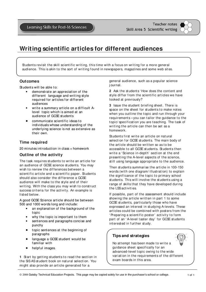 Skill 5 13 Writing for Different Audiences | STEM
