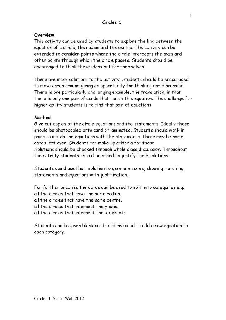 Circle Geometry | STEM