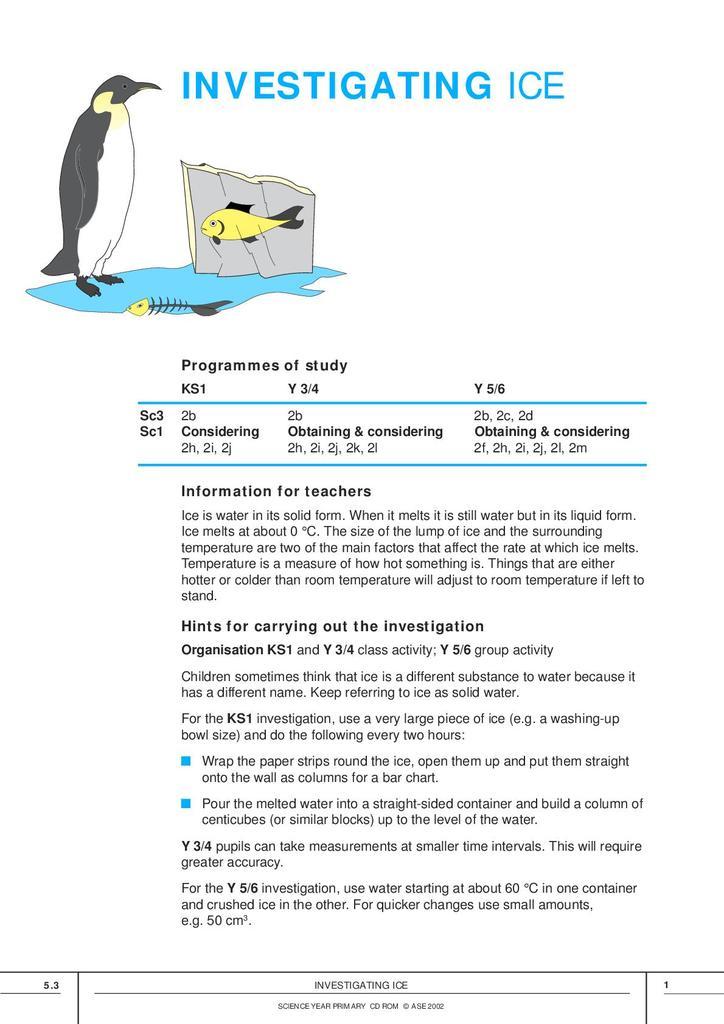 Investigating Ice | STEM