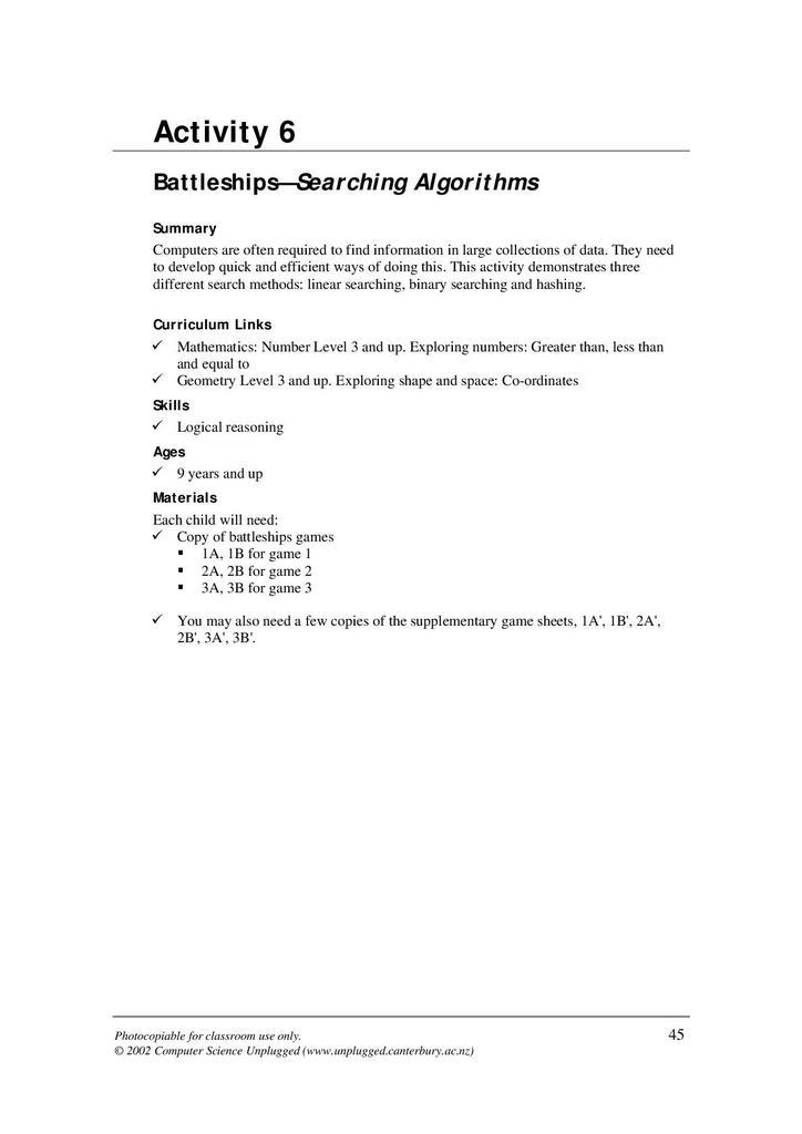 Battleships - Searching Algorithms | STEM