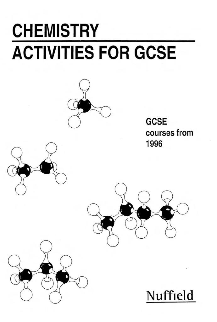 Nuffield Chemistry Activities for GCSE | STEM