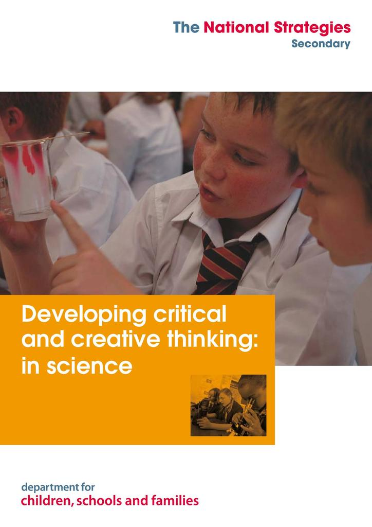 Developing Critical and Creative Thinking: in Science | STEM