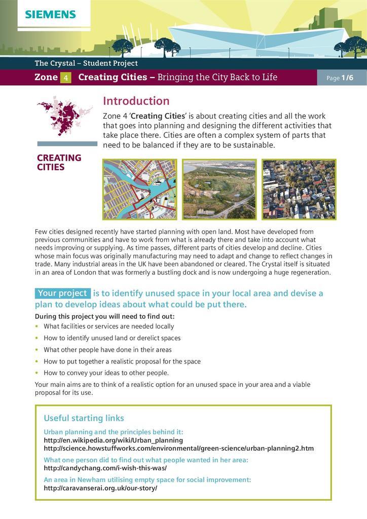 Zone 4: Creating Cities   STEM