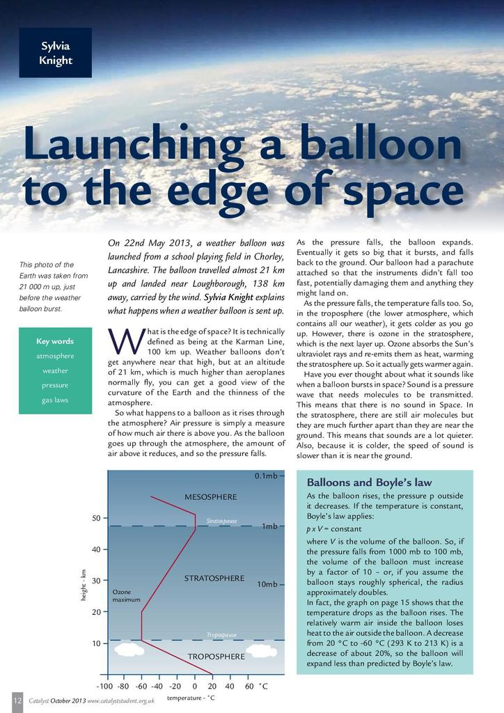Launching a Balloon to the Edge of Space | STEM