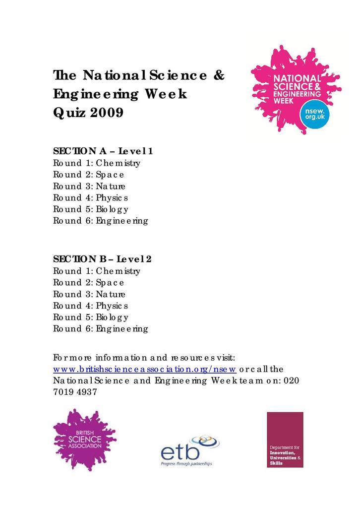 National Science & Engineering Week Quizzes | STEM