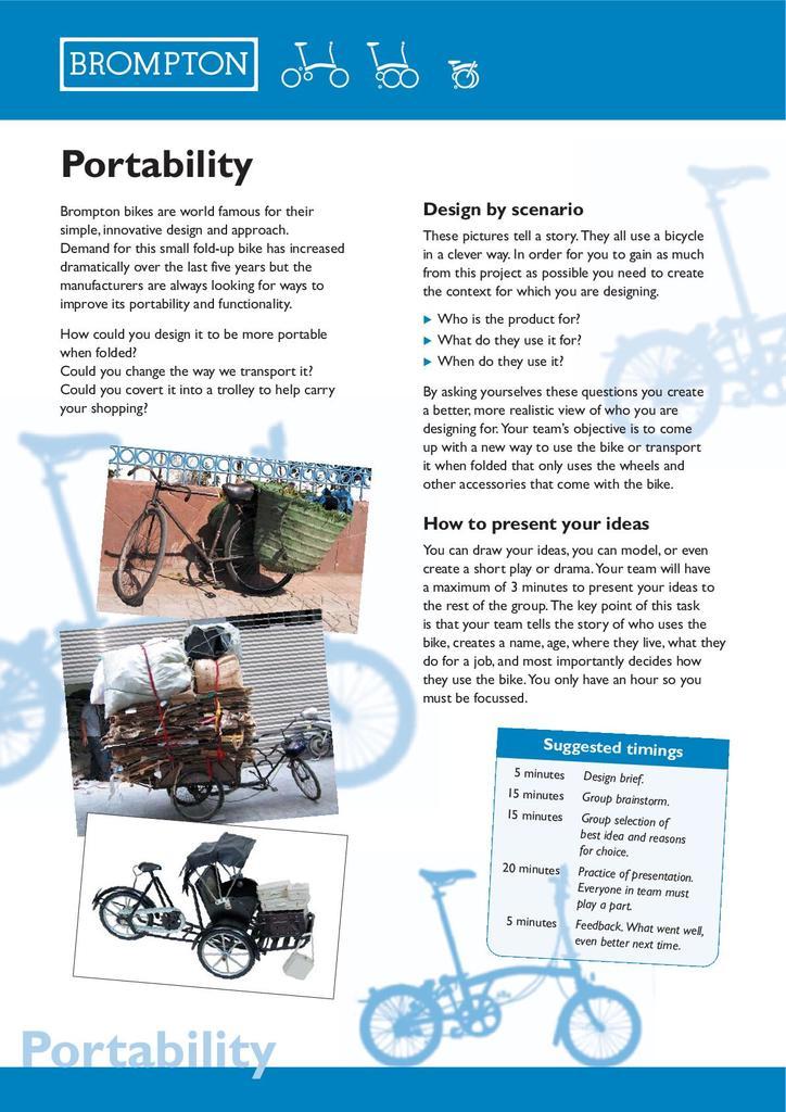 Brompton Bicycle: Key Stage 3 Resources   STEM
