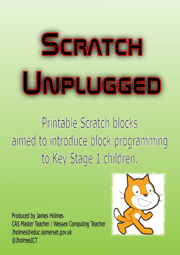 Printable Scratch Blocks For Programming Unplugged Stem
