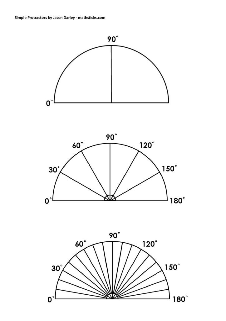 This is a photo of Protractor Printable Pdf for math