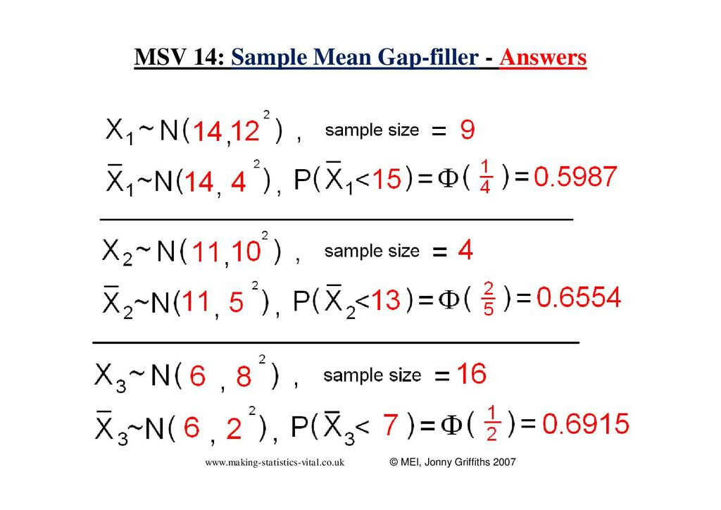 Sampling and Hypothesis Testing using the Normal