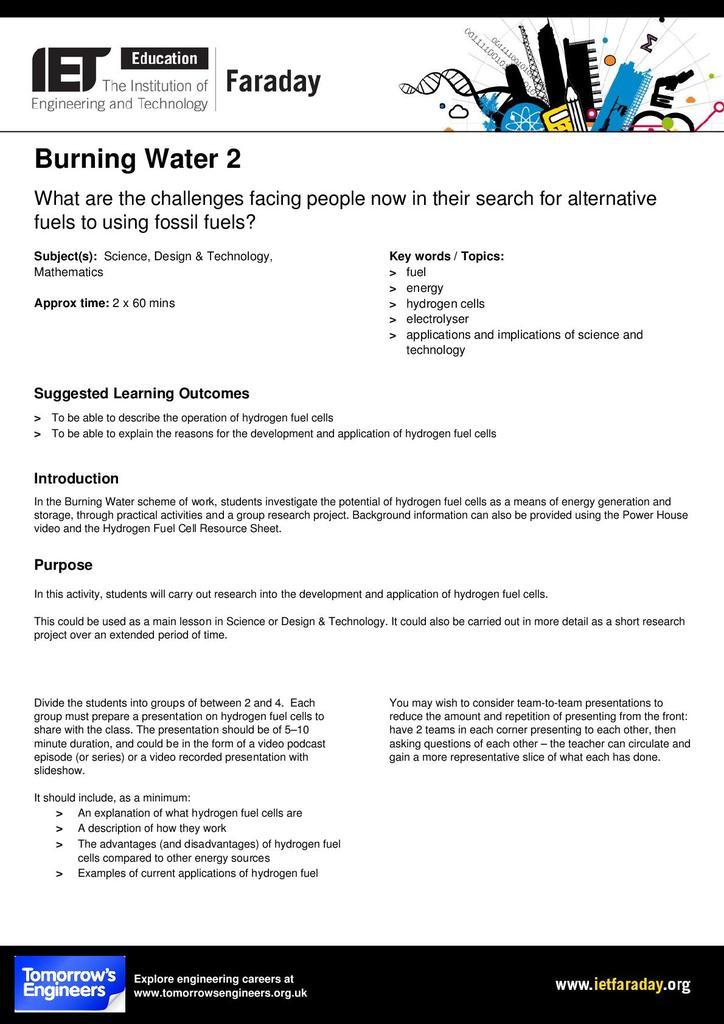 Burning Water 2   STEM