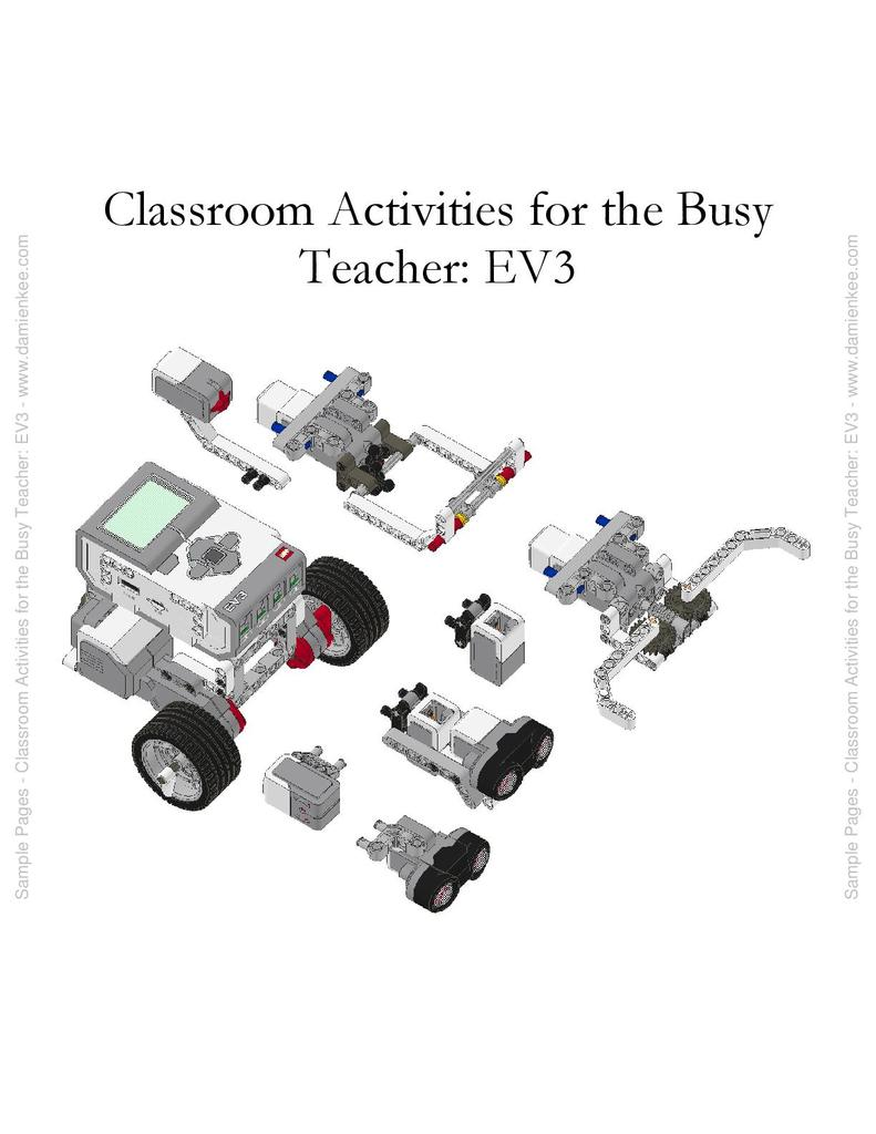 EV3 Activities for the Busy Teacher | STEM