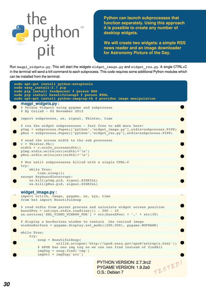 Creating desktop widgets   STEM